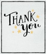 Gold Stars Thank You Card